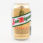 Cerveza nacional San Miguel en lata (33 cl.)