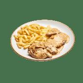 Puntas De Solomillo En Salsa De Champiñones