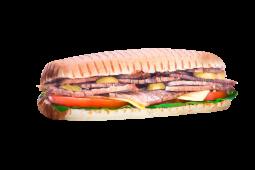 Sándwich de bife en pedacitos (grande)