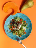 Салат з печеним гарбузом і грушею (170г)