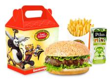 Бургер куриный + фри + напиток на выбор + маленькая игрушка