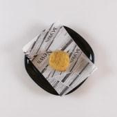 Croqueta de cecina con queso de cabra y cebolla caramelizada