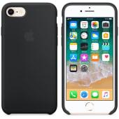 Coque Apple en Silicone Noir