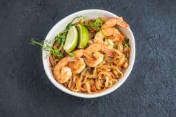 Локшина рисова wok з креветками
