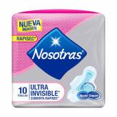 Nosotras Ultra Invisible Rapigel 10und