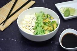 Sushi salad palta, pepino y Philadelphia