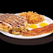 Sticky bun pancake breakfast