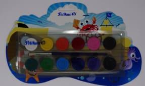 Acuarela 12 Colores Cja Plastica Escolar 7501208