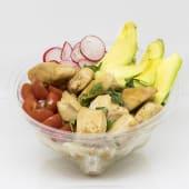 Poke bowl de pollo en salsa de soja cítrica