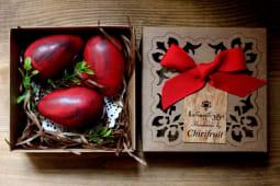 წითელი შოკოლადის კვერცხები