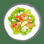 Салат Очеано з лососем