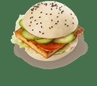 Бао-бургер з тофу та овочами (200г)