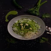Curry Verde (Verdura, Pollo Heura, Langostinos)