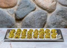N. 10 Praline cioccolato fondente, ganache pistacchio