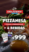 Pizzanesa + 4 bebidas