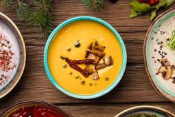 Суп з гарбуза з кукурудзою і в'яленими томатами (350г)