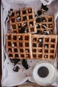 Waffles congelados de Oreo y chips de chocolate