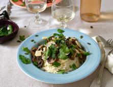 Risotto aux champignons bruns, parmesan, graines de courge.