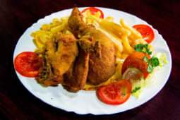 2 Piece Fried Chicken with Chips