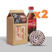 Lunch box : tramezzini,  bibita o juice 12oz o tea breeze, e donut  x2