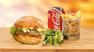 Burger pui + cartofi prajiti + Cola