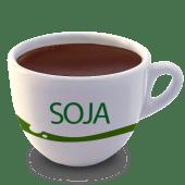 Vaso de chocolate con leche de soja