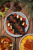 Чорна паста з вегетаріанськими морепродуктами (250г)