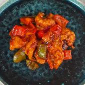 Chilli prawn (langostinos)