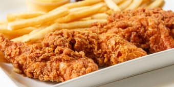 Fried Chicken Fingers with Chips