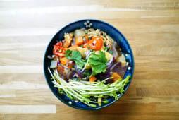 Soupe de vermicelle au ragoût de légumes
