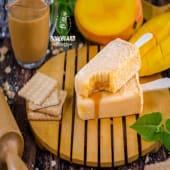 Paleta de bruselina de mango con manjar