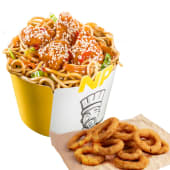 Noodle Pack Orange Chicken cu onion rings