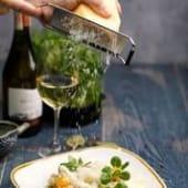 Різото з бебі кальмарами і трюфельним кремом (240г)