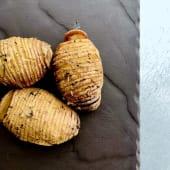 """Batatas """"Despenteadas"""" Assadas"""