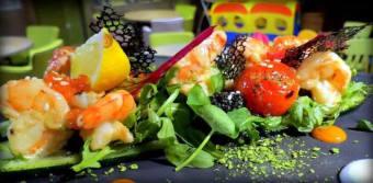 Креветки в соусі лемонграсс на цукіні-гриль (250г)