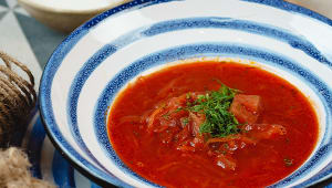 Борщ червоний з яловичиною (300г)
