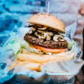V green burger