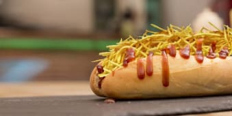 Hot dog Tío Sam