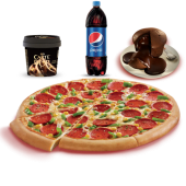 Orta Boy Pizza + Litrelik İçecek + Sufle + Carte d'Or Dondurma
