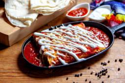 Enchiladas Rojas Chilli con carne