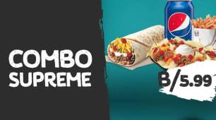 Glovomania: Nachos supreme + Burrito supreme + Cinnamon twist + Soda
