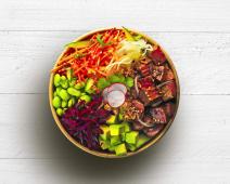Poke bowl beef teriyaki