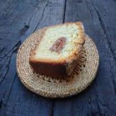 Budín de coco y dulce de leche ( porción )