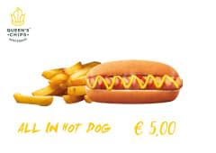 Hot dog piu patatine fritte