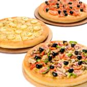 3 pizzas familiares al gusto