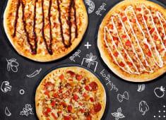 შეუკვეთე 2 დიდი პიცა ფავორიტი კატეგორიიდან და მიიღე 1 საშუალო საჩუქრად