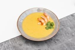 Гарбузовий суп карі з креветкою (300г)