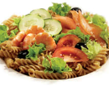 Saladas - Sugestão Salmão e Camarão