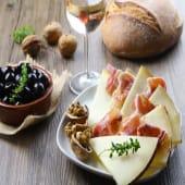 Plato jamón y queso