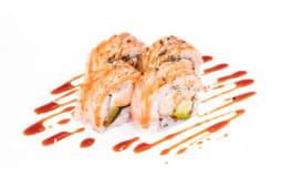 Salmon tataki roll